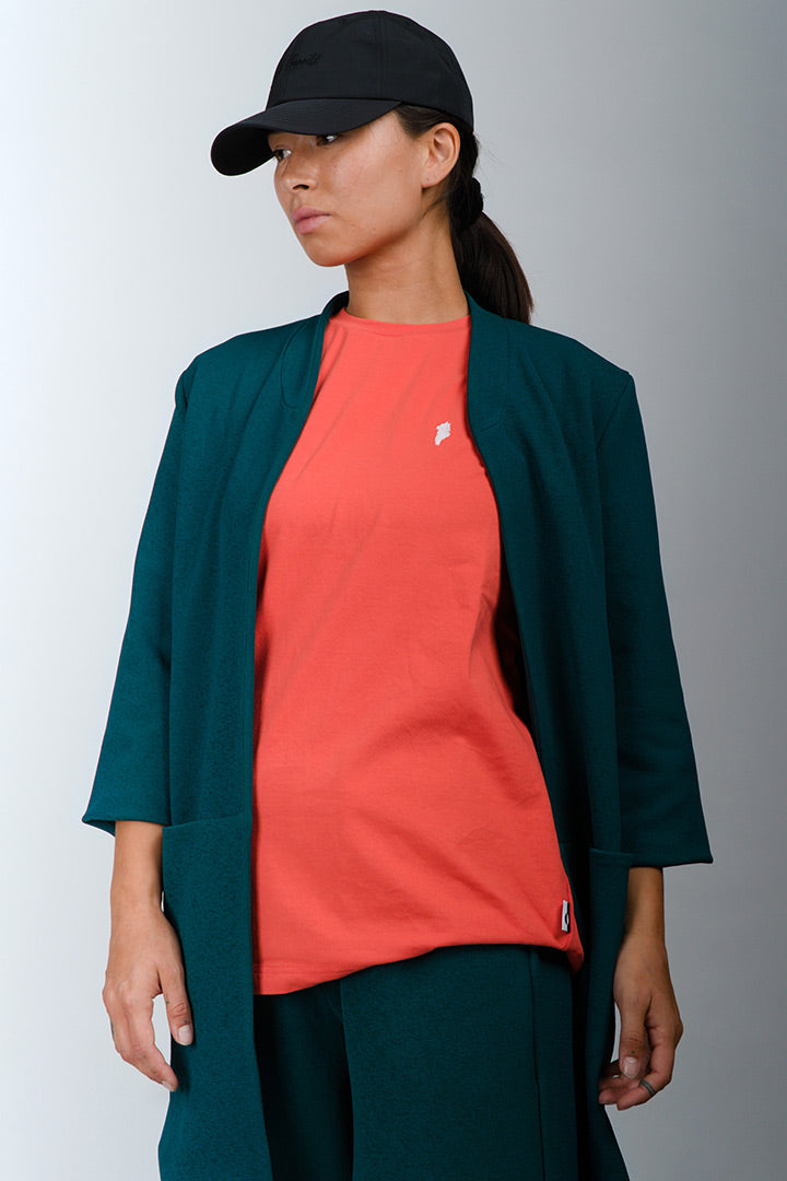Ocean Green Open Cardigan