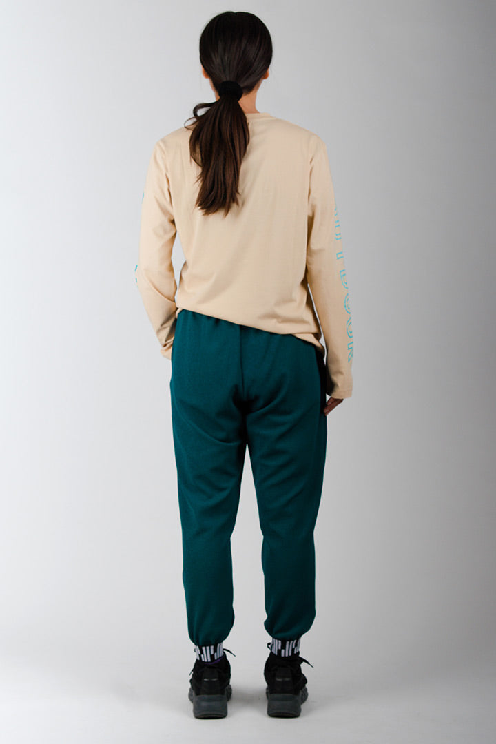 Ocean Green Light Loose Pants
