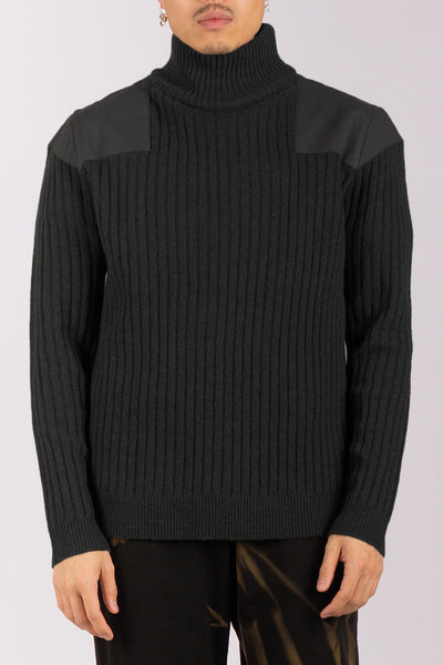 Black Sailors Wool Turtleneck (unisex)