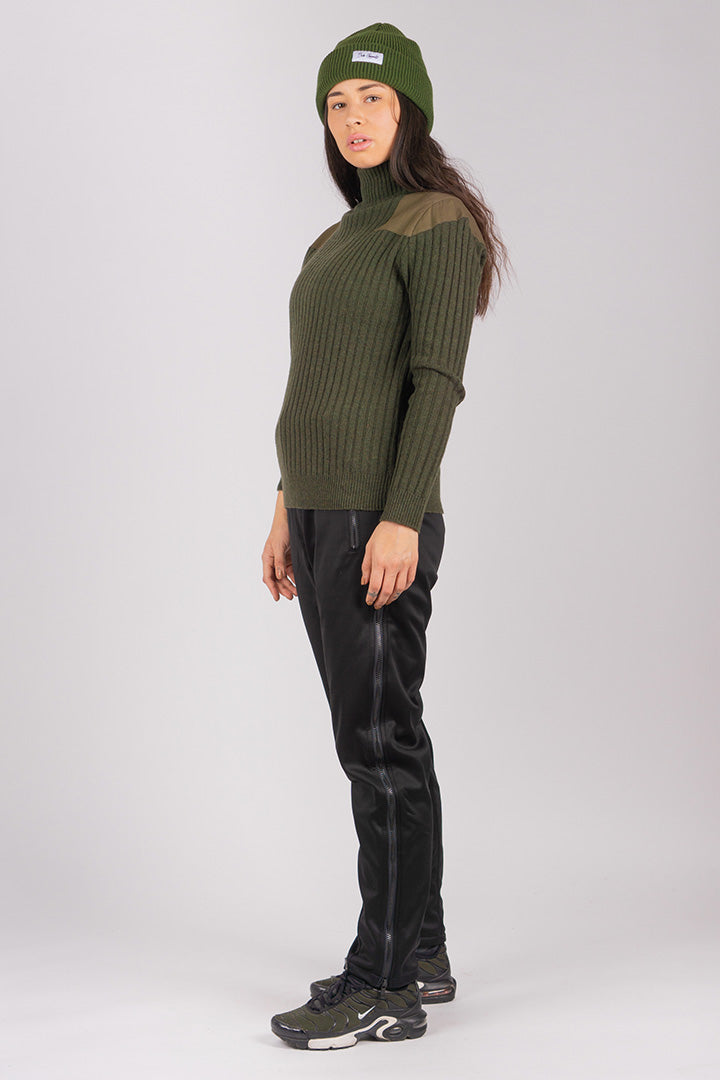 Army Green Sailors Wool Turtleneck (unisex)