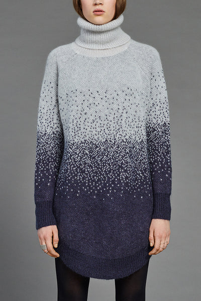 Snow Mohair Arch Turtleneck by BIBI CHEMNITZ