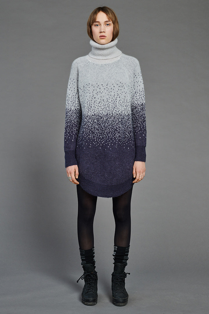Snow Mohair Arch Turtleneck