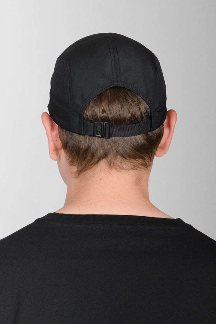 Black Speed 5-Panel Nylon Cap