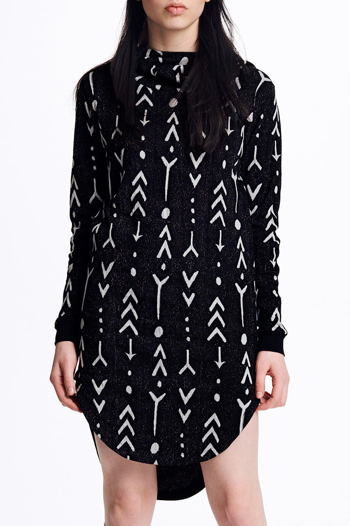 Tattoo Inuit Hoodie Dress