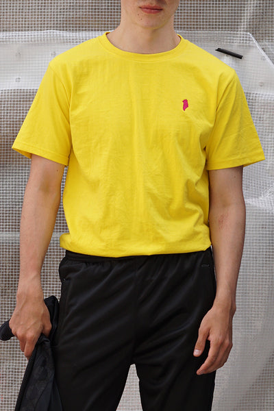 Yellow Greenland Embroidery T-shirt (unisex)