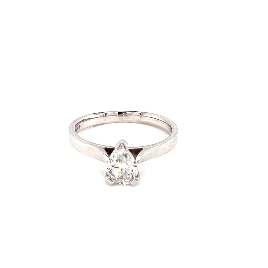 18ct Gold Pear Diamond Engagement Ring