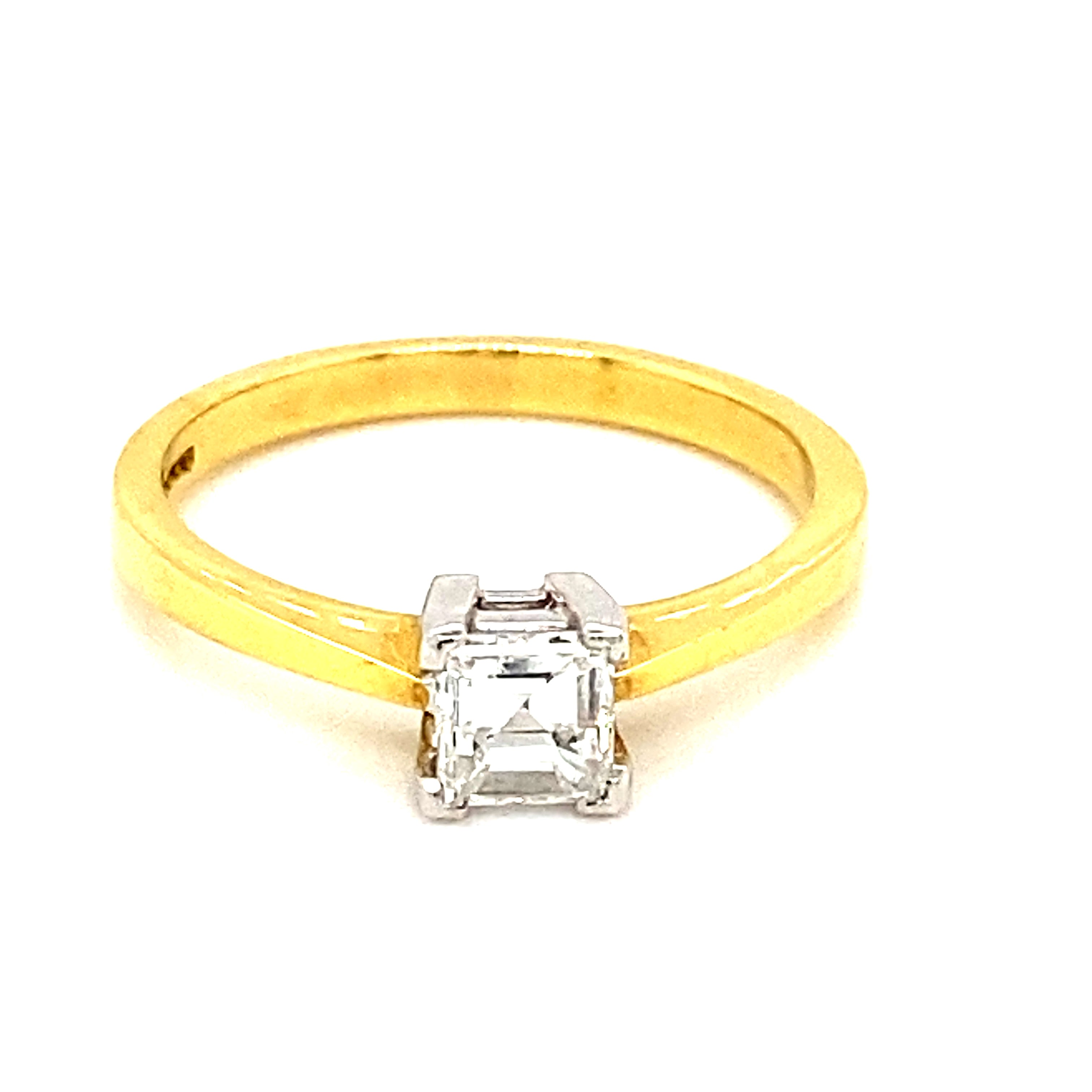18ct Yellow Gold 0.70ct Carre Diamond Ring