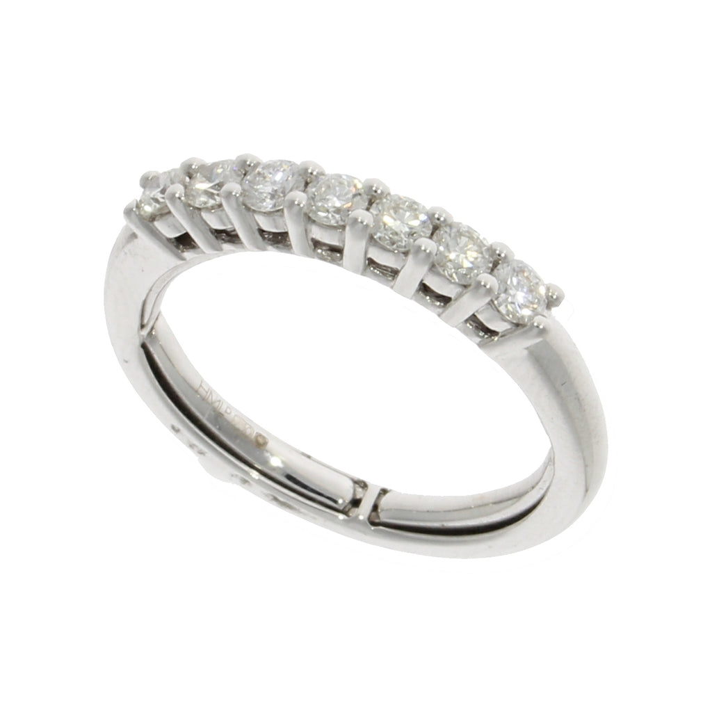 18ct White Gold Adjustable Diamond Band