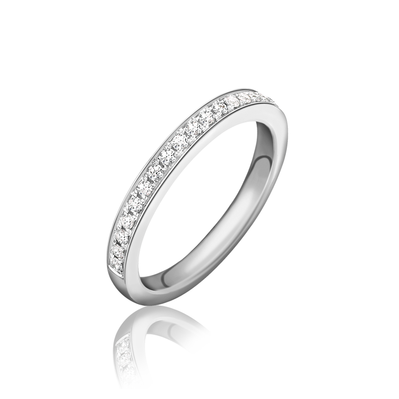 Platinum 0.17 Diamond Ring