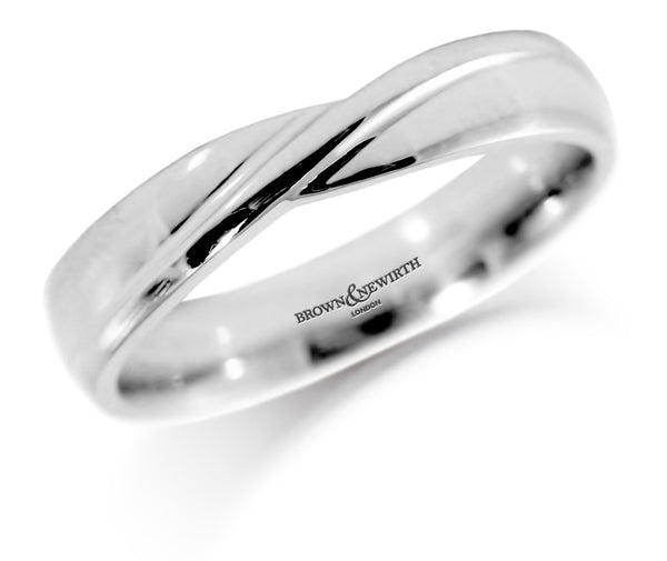 Platinum Shaped Wedding Band