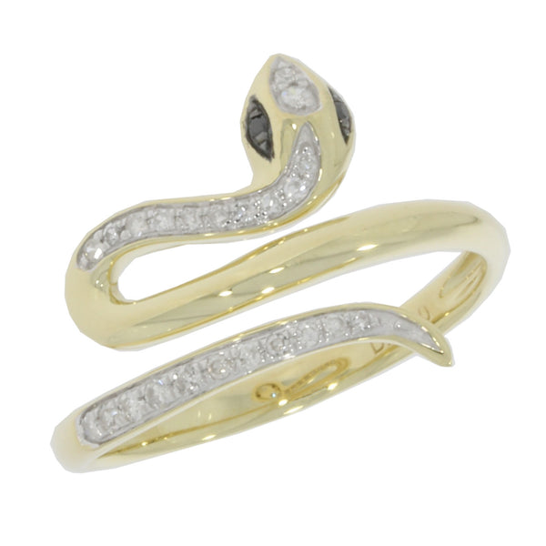 Diamond Wrap Snake Ring