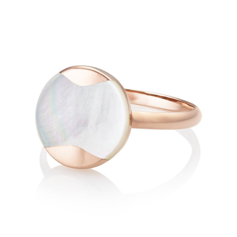 Rose Gold Vermeil Mother of Pearl Ring
