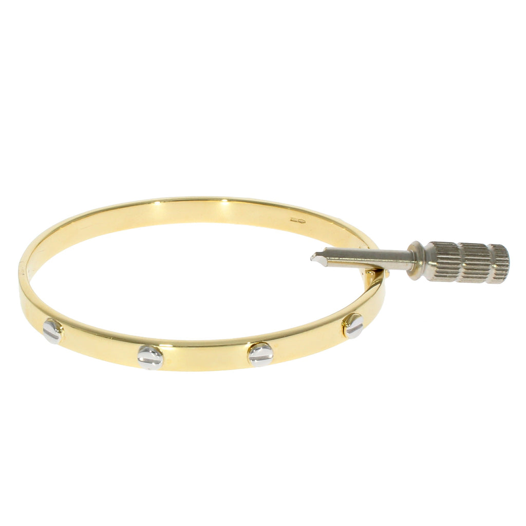 9ct Gold Screw Bangle