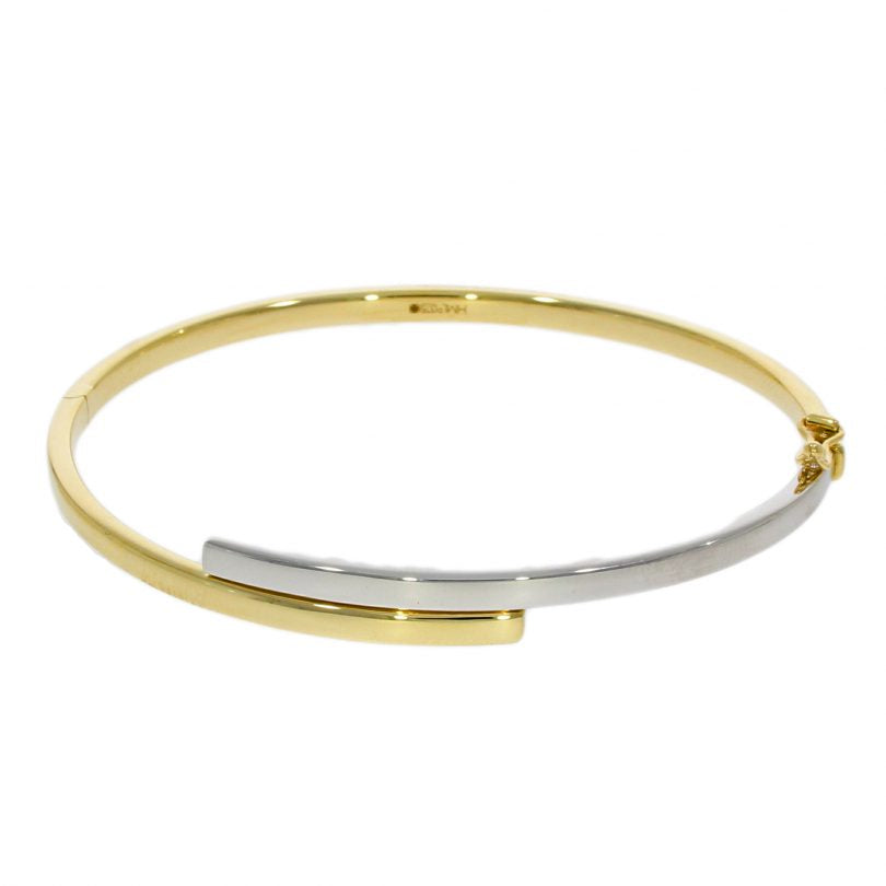 9ct Yellow and White Gold Bangle
