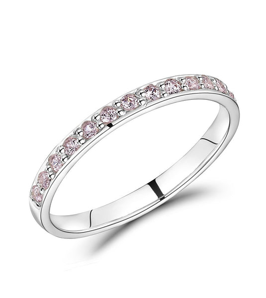 Pink CZ Eternity Ring