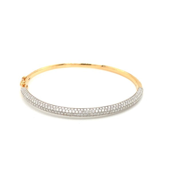 18ct Rose Gold Diamond Bangle