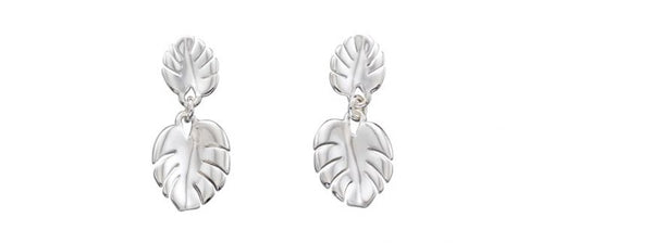 Silver Cheese Plant Earrings