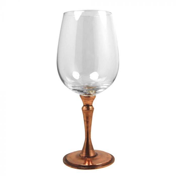 Pewter Rose Wine Glass