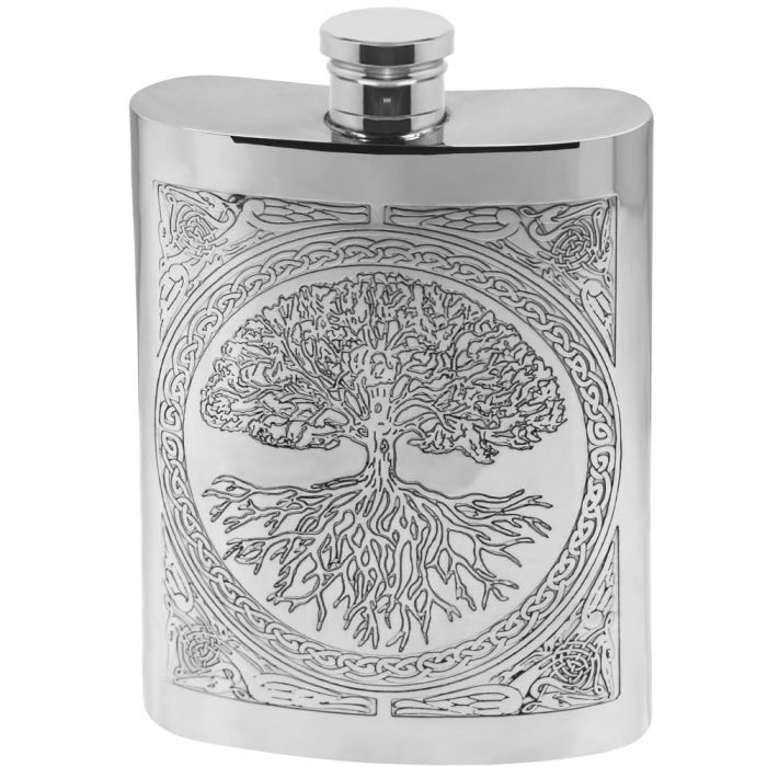 6oz Tree of Life Hip Flask