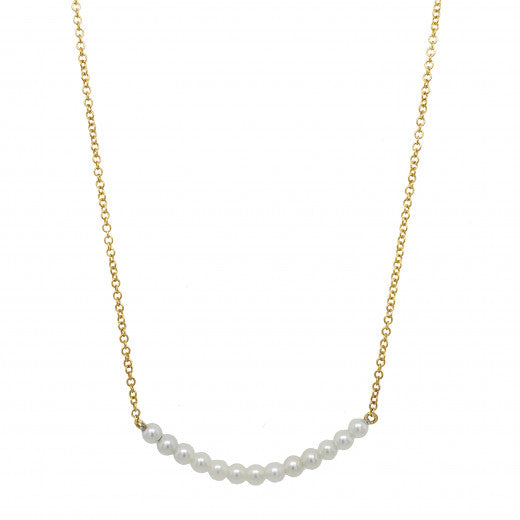 9ct Yellow Gold Culture Pearl Birthstone Necklace