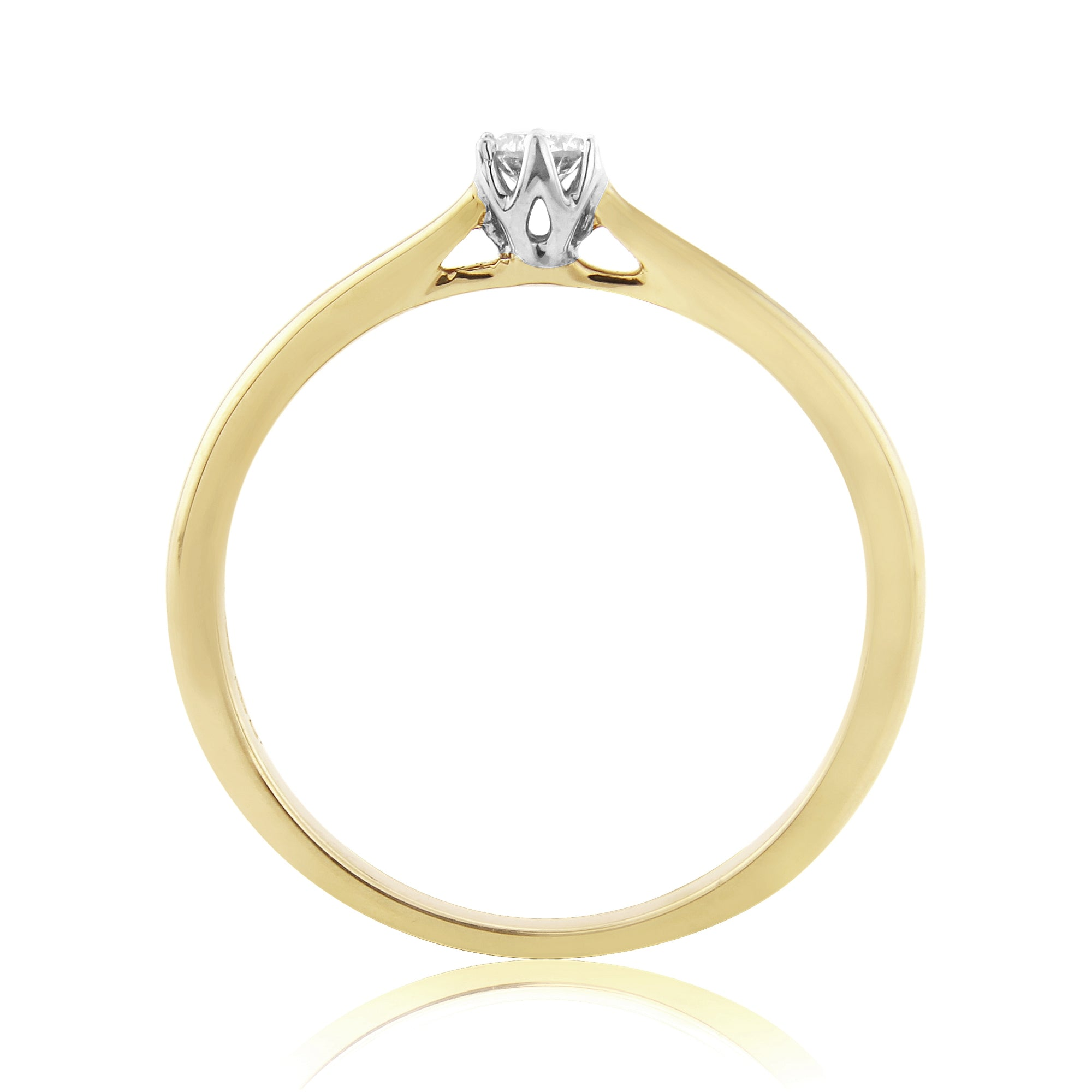 9ct Yellow Gold Diamond Solitaire Ring