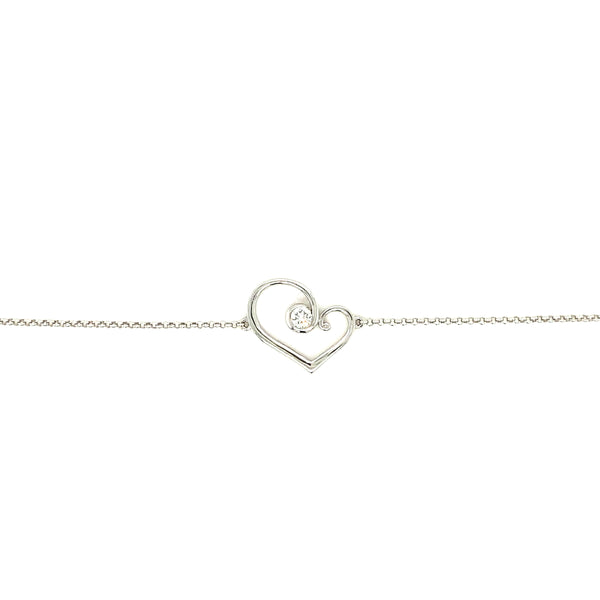 9ct White Gold Forever Bracelet