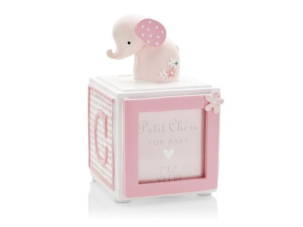 Pink Elephant Money Box and Photo Frame
