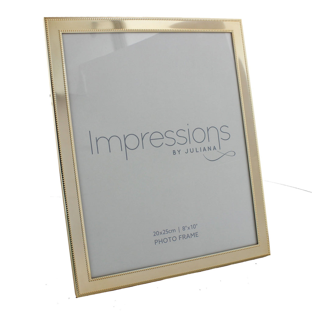 "Brass Plated Beaded Frame 8"" x 10"""