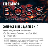 Fire MICRO B.O.S.S.- Ultra Compact Fire Starting Kit