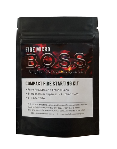 *Fire MICRO B.O.S.S.- Ultra Compact Fire Starting Kit*