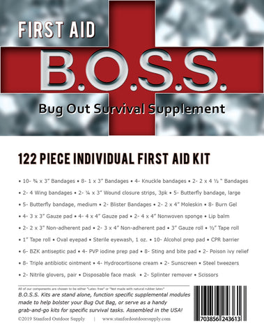 *** PRE-ORDER*** First Aid B.O.S.S.- Bug Out Survival Supplement