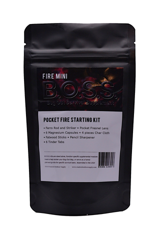 Fire Mini B.O.S.S.- Bug Out Survival Supplement kit