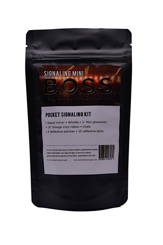 Signaling Mini B.O.S.S.- Bug Out Survival Supplement kit