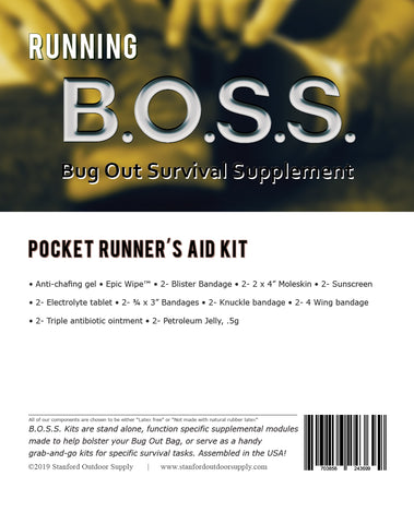 *** PRE-ORDER*** Running B.O.S.S.- Pocket Runner's Aid Kit