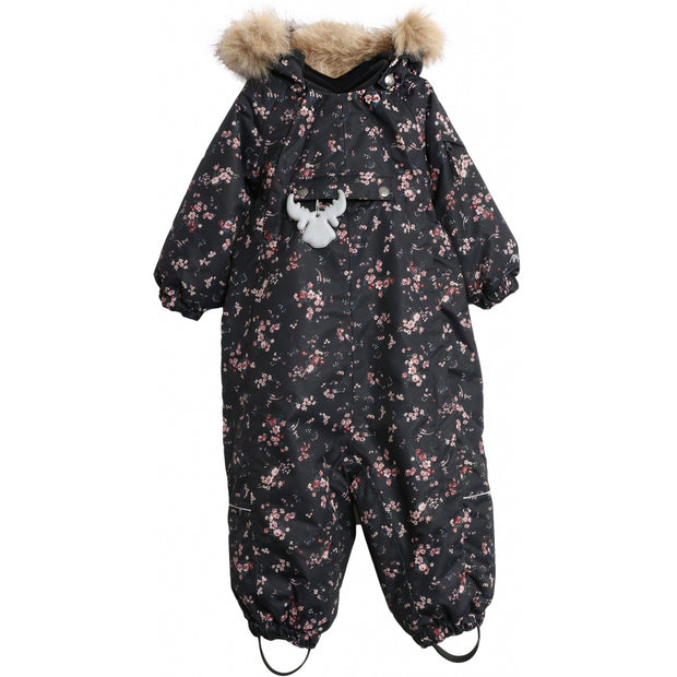 Wheat Outerwear Flyverdragt Nickie Snowsuit 1481 blue flowers