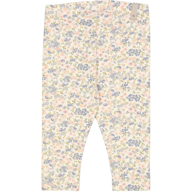 Wheat Jersey Leggings Leggings 9054 flowers and seashells