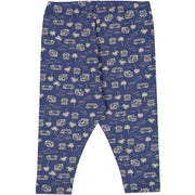 Wheat Jersey Leggings Silas Leggings 1013 blue surf