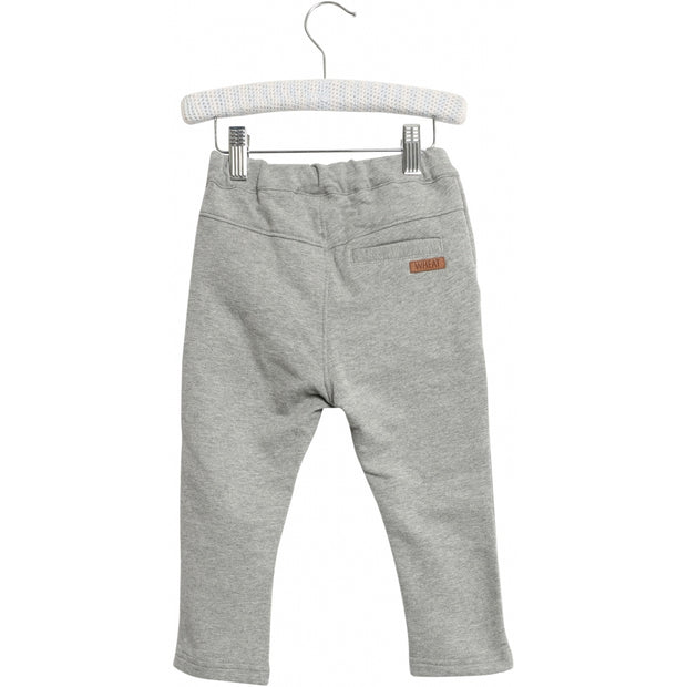 Wheat Joggingbukser Frank Trousers 0224 melange grey