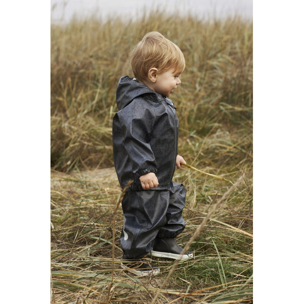 Wheat Outerwear Regnsæt Charlie Rainwear 1067 ink worldmap