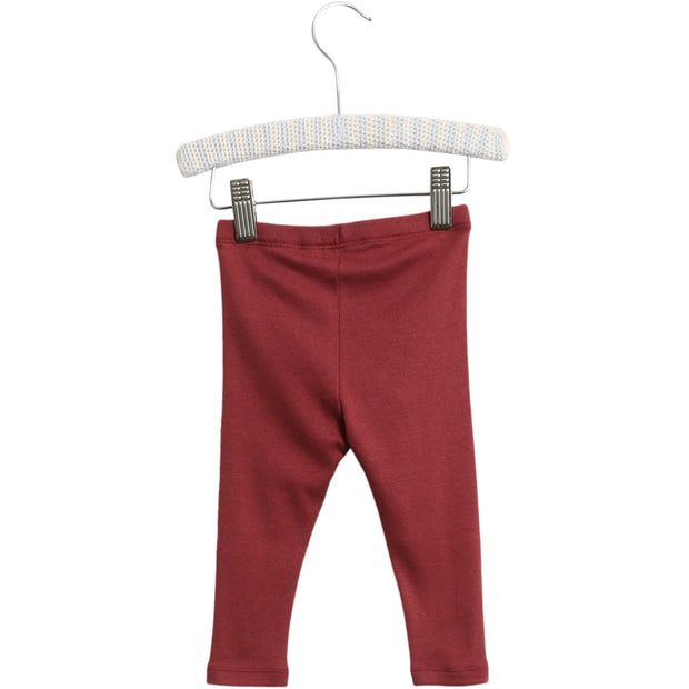 Wheat Rib Leggings Leggings 2105 burgundy