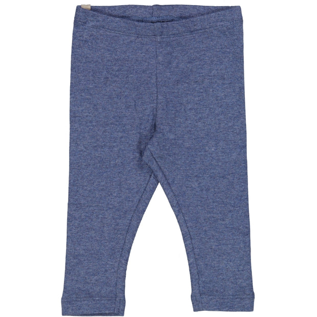 Wheat Rib Leggings Leggings 1076 blue melange
