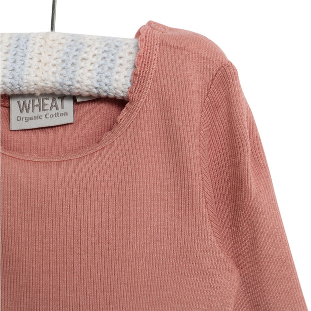 Wheat Rib T-Shirt Blonde Jersey Tops and T-Shirts 2574 soft peach rose