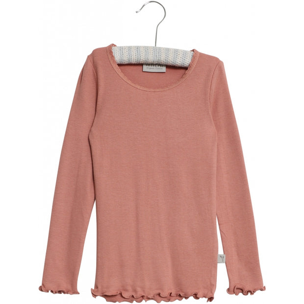 Wheat Rib T-Shirt Lace Jersey Tops and T-Shirts 2574 soft peach rose