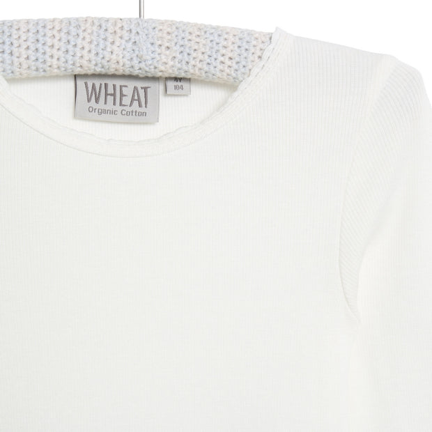 Wheat Rib T-Shirt Lace Jersey Tops and T-Shirts 3182 ivory