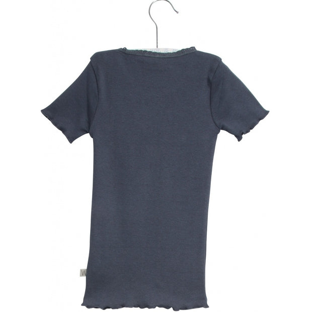 Wheat Rib T-shirt Jersey Tops and T-Shirts 1292 greyblue