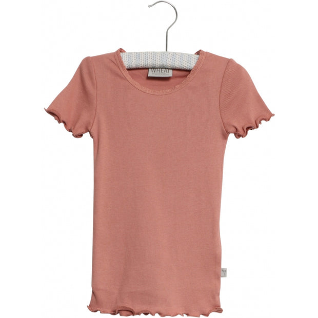 Wheat Rib T-shirt Jersey Tops and T-Shirts 2574 soft peach rose