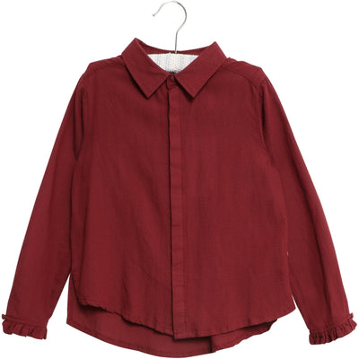 Wheat Skjorte Josephina Shirts and Blouses 2105 burgundy