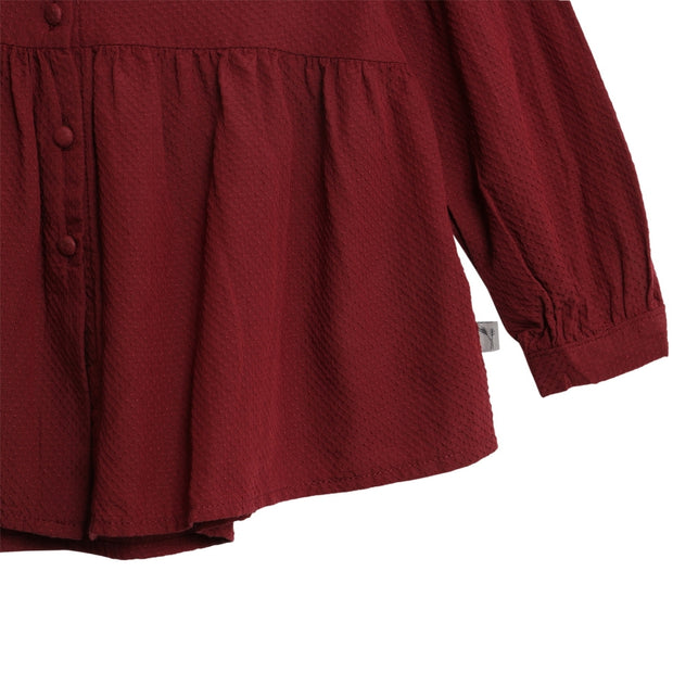 Wheat Skjorte Julie Shirts and Blouses 2105 burgundy