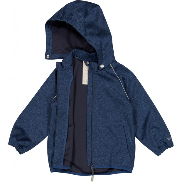 Wheat Outerwear Softshell Jakke Eddie Softshell 1076 blue melange