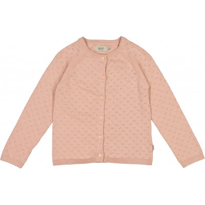 Wheat Strik Cardigan Maja Knitted Tops 2270 misty rose